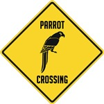 Parrot Crossing Sign