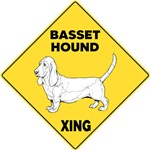 Basset Hound Crossing Sign