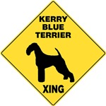 Kerry Blue Terrier Crossing Sign