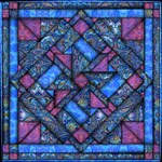 Purple and Blue Quilt