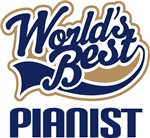 Pianist (Worlds Best) Music Tshirts