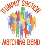 Trumpet Marching Band Collage Tee shirts