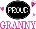 Proud Granny Butterfly T-shirts and Gifts