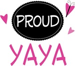 Proud Yaya Butterfly T-shirts and Gifts