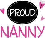 Proud Nanny Butterfly T-shirts and Gifts