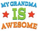 My Grandma Is Awesome Kids Tshirts