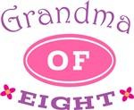 Grandma Of Eight T-shirt Gifts