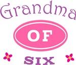 Grandma Of Six Cute T-shirts