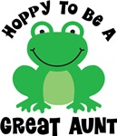 Hoppy to be a Great Aunt Gifts and T-shirts