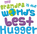 Grandpa Is Worlds Best Hugger