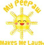 My Peepaw Makes Me Laugh Kids Apparel