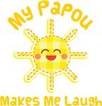 My Papou Makes Me Laugh Kids Apparel