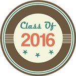 Vintage Class of 2016 School T-shirts