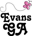 Evans Georgia Tee Shirts and Hoodies