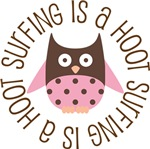 SURFING IS A HOOT OWL TEES AND GIFTS