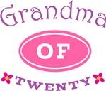 Grandma Of Twenty T-shirt Gifts