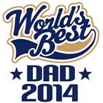World's Best Dad 2014 Gift Tshirts