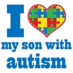 Personalized Autism I Love My Son Support Shirts a