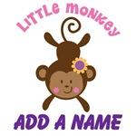 Girl Monkey Personalized Kids T-shirts