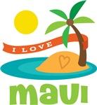 I Love Maui T-shirts
