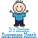 It's Autism Awareness Month Stick Figure Tshirts