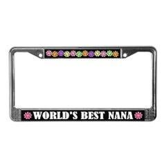 World's Best Grandma Grandpa License Frames