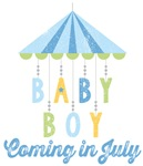 Baby Boy Coming in July Due Date Maternity