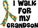 Autism I Walk For My Grandson T-shirts