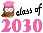 Class of 2030 Graduation Tee Shirts (owl)