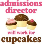 Admissions Director cupcake T-shirts