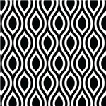 Ogee Black White Retro Pattern Gifts