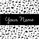 Personalized Music Note Pattern