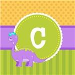 Cute Kids Dinosaur Monogram
