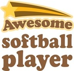 Awesome Softball Player T-shirts