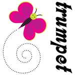 Pretty Butterfly Trumpet Apparel and Gifts