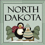 Penguin Friends North Dakota T-shirts and gifts