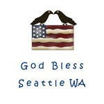 God Bless Seattle Washington T-shirts and Gifts