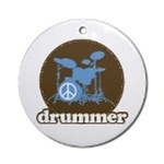 Drummer and Percussion Christmas Ornaments