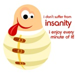 Funny Insanity Design on T-shirts
