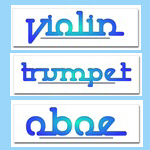 Cool Blue Musical Instruments Bumper Stickers