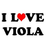 Classic I Love Viola T-shirts