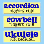Funny Music Rules Bumper Stickers
