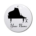 PERSONALIZED PIANO ORNAMENTS | PIANO ORNAMENT GIFT