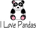 I Love Pandas T-shirts / Gifts