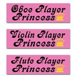 Music Princess Bumper Stickers