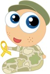 Support Our Troops Yellow Ribbon Kids T-shirts