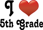 Big Red Heart 5th Grade T-shirts and gifts