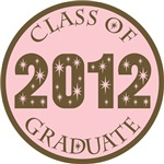 Pink Stars Class Of 2012 T-shirt Gifts