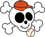 Funny Baseball Skull Design T-shirts