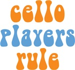 Funny Cello Players Rule T-shirts and Gif